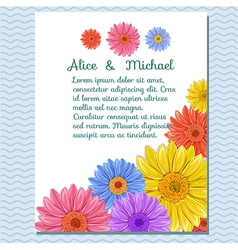 floral invitation greeting card vector image
