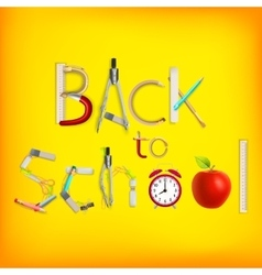 Back to school background EPS 10 vector image
