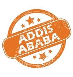 Addis ababa round stamp vector