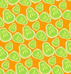 Pattern of green pears vector