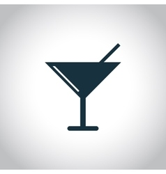 Glass with a cocktail icon vector