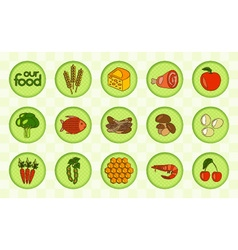 Our food set vector image
