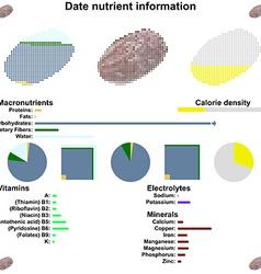 Date nutrient information vector