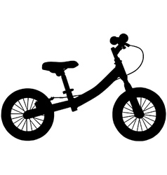 Balance bicycle vector