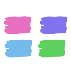 Colorful paint stains for your text set isolated vector