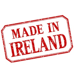 Ireland - made in red vintage isolated label vector