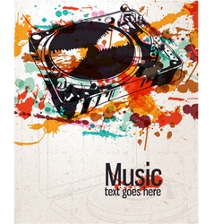 retro splatter music background vector image