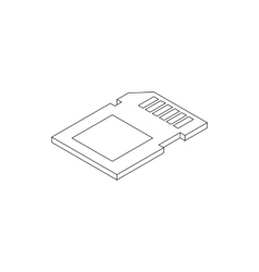 Slide icon isometric 3d style vector