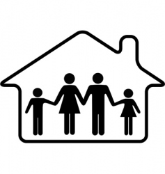 House family parents and children vector