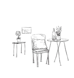 Hand drawn furniture vector