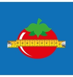 Tomato and tape measure vector