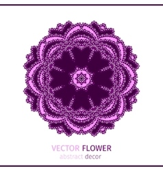Abstract oriental lacy flower vector