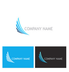 abstract wing speed company logo vector image vector image