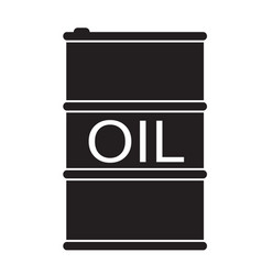barrel oil icon on white background flat style vector image vector image
