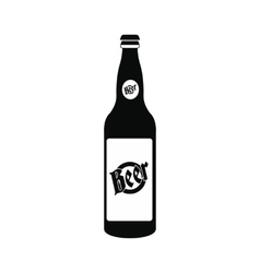 Bottle of beer icon vector image
