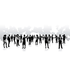 business people squares vector image