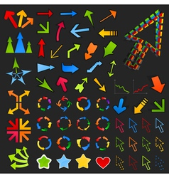 Collection of arrows8 vector image vector image