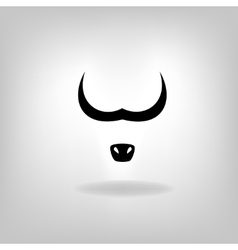 Cow or bull head vector