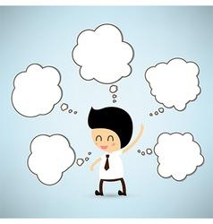 Dream business man cartoon vector