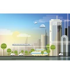 Futuristic city design vector