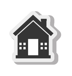 House home estate isolated design vector