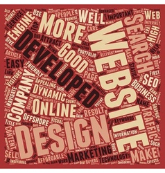 Importance of Website Design and Development text vector image vector image