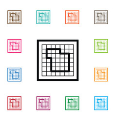 Isolated floor plan icon blueprint element vector