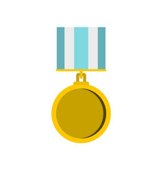 medal for services icon flat style vector image vector image