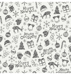 Merry Christmas and Happy New Year 2017 Christmas vector image