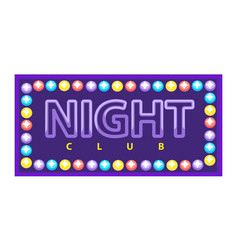 Night club vivid banner vector