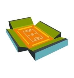 Open soccer field icon vector