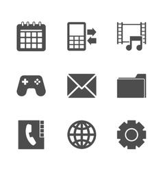 Phone Menu Icons Set vector image vector image