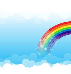 Rainbow cloud and sky background 003 vector