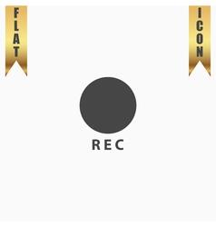 Rec button flat icon vector image vector image