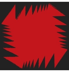 Red black angle aggressive colorful strong vector image vector image