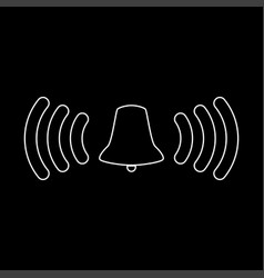 Ringing bell the white path icon vector