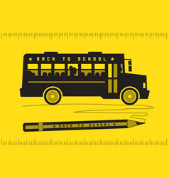 school bus back to school vector image vector image