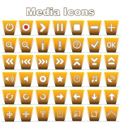 Set of media and music icons vector