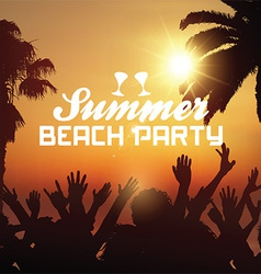 Summer beach party background vector image