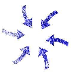 Twirl arrows grunge textured icon vector