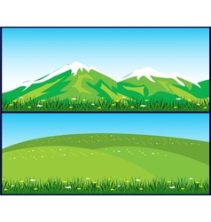 Two landscapes vector image vector image