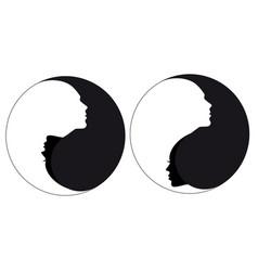 Yin yang sign man and woman vector