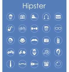 Set of hipster simple icons vector