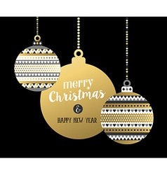Gold christmas new year elegant bauble ornament vector