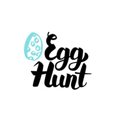 Egg hunt handwritten lettering vector
