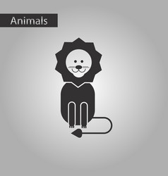 Black and white style icon lion vector