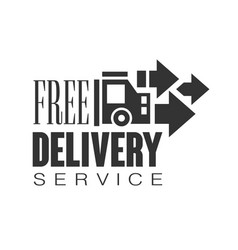 Free delivery service logo design template black vector