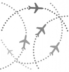planes flying vector image