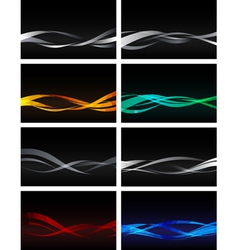 Set of Backgrounds on black vector image