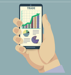 Phone and trade analysis vector